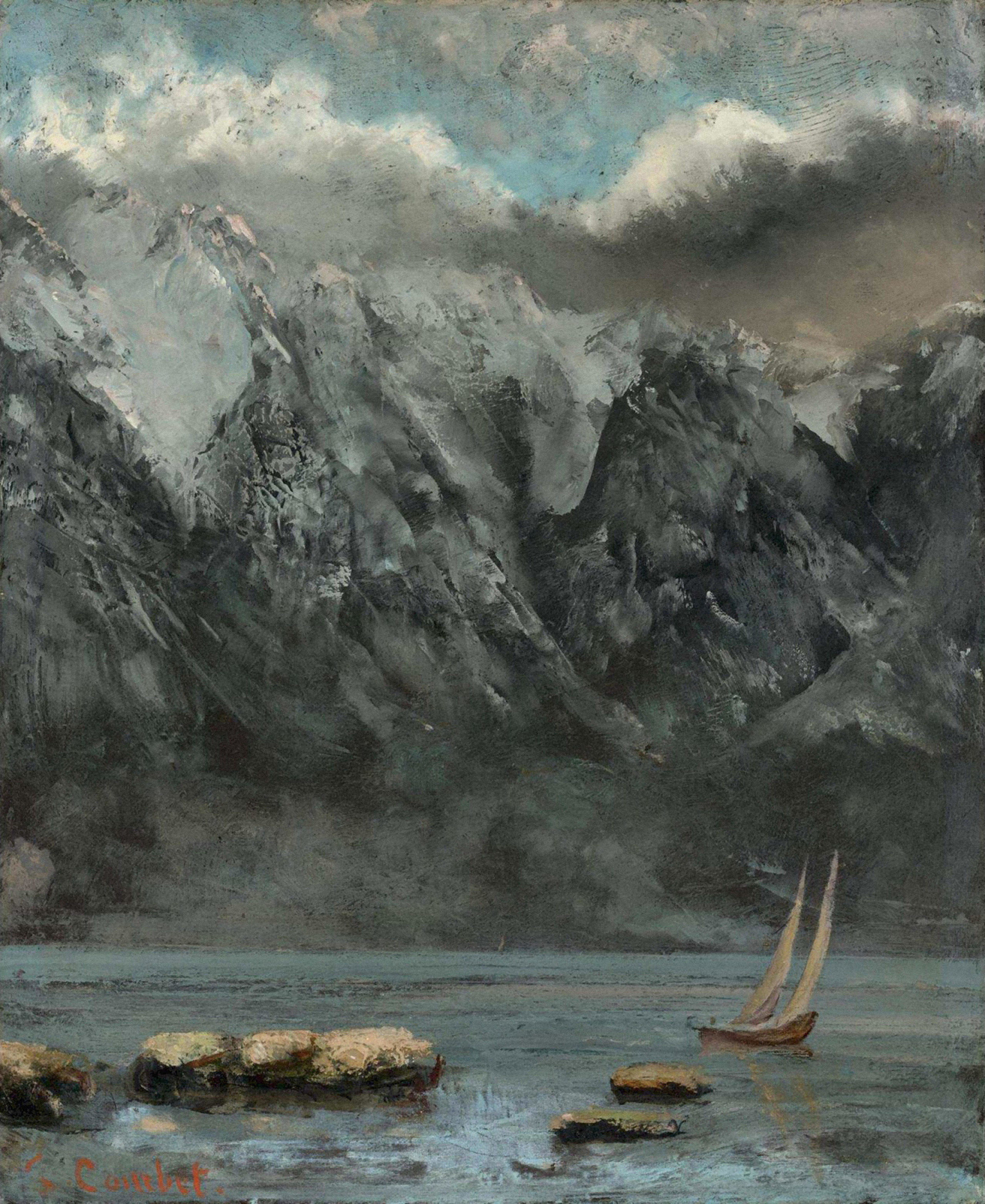 Gustave Courbet, Bords Du Lac Léman, vers 1874.  © Photo12 / Alamy