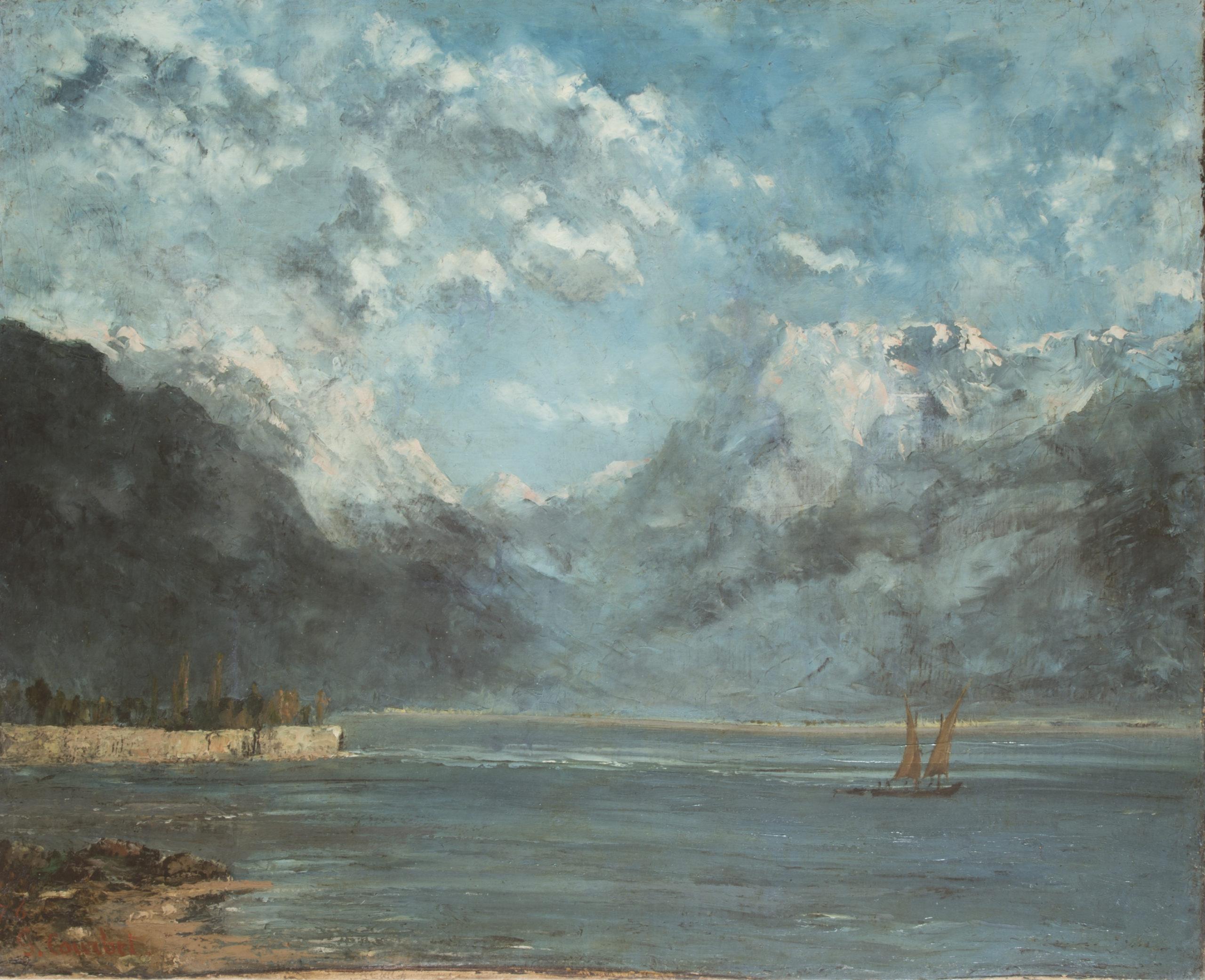 View of Lake Geneva, la Becque, 1876, Musée d'Art et d'Histoire de Granville