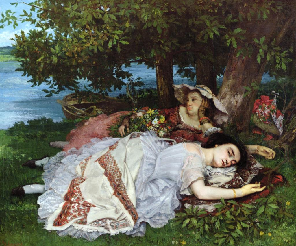 Les Demoiselles des bords de la Seine, 1856, Musée de la Ville de Paris, Musée du Petit-Palais, France / Bridgeman Images