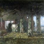 La Terrasse de Bon-Port (La terrazza di Bon-Port), 1876, donazione di Juliette Courbet, sorella di Gustave Courbet.  © Musée Jenish Vevey. Foto: Julien Gremaud